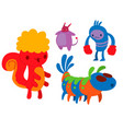 monster character funny design element vector image