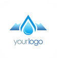 Mountain water drop logo