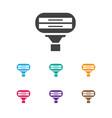 of hairdresser symbol on vector image vector image