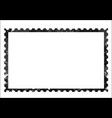 old grunge blank postage paper stamp on white vector image