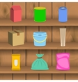 Pack container icon shelf vector image