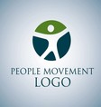 PEOPLE MOVEMENT LOGO 2 vector image vector image