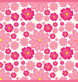 pink flower seamless background vector image