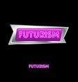 pink neon futurism logo vector image