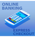 Quick payments using a mobile phone vector image vector image