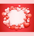 realistic valentines day background with 3d vector image vector image