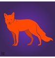 Red fox silhouette vector image