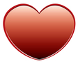 red heart on a white background vector image