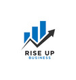 rising up statistic bar business consulting logo vector image
