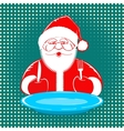 Santa Claus comic style design on dotted vector image vector image