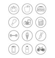 Set of healthy and unhealthy habits icons