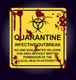 Sign of infected area Quarantine zone vector image vector image