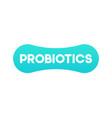 simple logo template or icon of green probiotics vector image vector image