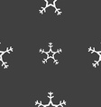 snow icon sign Seamless pattern on a gray vector image vector image