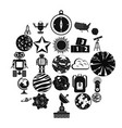 space icons set simple style vector image vector image