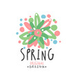 spring logo template original design with floral vector image