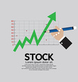 Stock Shares Rise vector image
