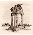 stone temple ruins vector image