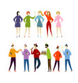 student party with friends boys and girls funny vector image vector image