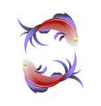 Stylized sea fish icon