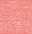 sweets seamless pattern cute various vector image vector image