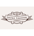 Vintage old style logo icon template vector image