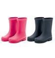 waterprorain rubber boots set realistic 3d vector image vector image