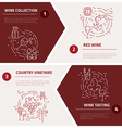 Wine Industry Concepts vector image vector image