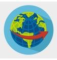 World and travel cartoon vector image