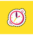 wristwatch dash line flat color vector image