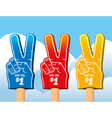 Color set of foam hand vector image