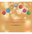 Happy christmas and new year background vector image