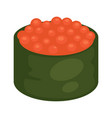 maki sushi with caviar vector image