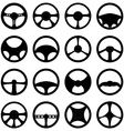Steering wheels icons set vector image