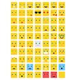 Square Emoticons set vector image