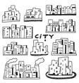 city doodles vector image