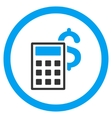 Business Calculator Rounded Icon vector image