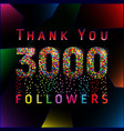 3000 followers pixels vector image vector image