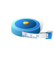 3d blue measuring tape isolated on vector image