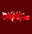 abstract word rock graffiti style font lettering vector image vector image
