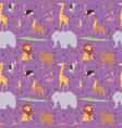 african wild animals outdoor graphic travel vector image