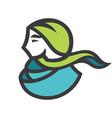 arab woman sign vector image vector image