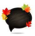 autumn poster with school board with white vector image vector image
