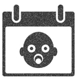 Baby Head Calendar Day Grainy Texture Icon vector image vector image