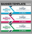 banner template for web design vector image vector image