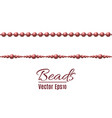 beautiful multi-colored beads string beads are vector image vector image