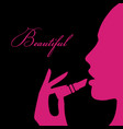 beauty girl silhouette vector image vector image