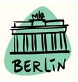 berlin capital germany vector image