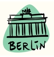 Berlin the capital of Germany vector image vector image