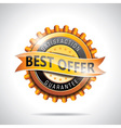 Best offer labels with shiny styled design vector image vector image
